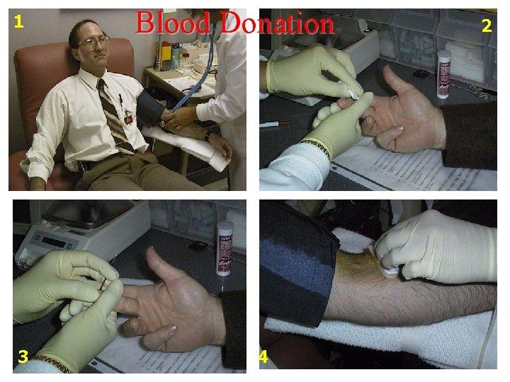 1 3 Blood Donation 4 2
