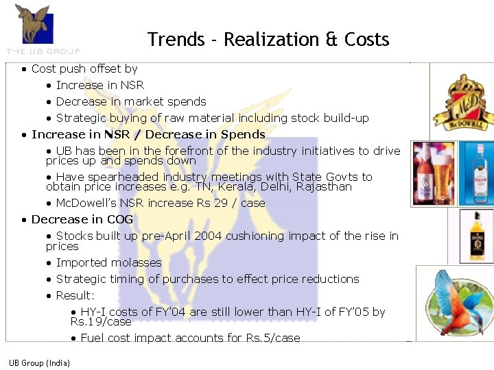 Trends - Realization & Costs • Cost push offset by • Increase in NSR