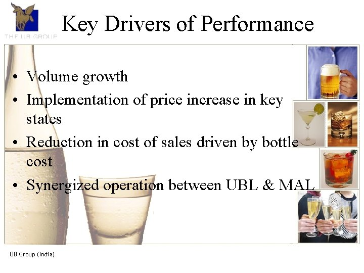 Key of. An Performance The. Drivers UB Groupintroduction The UB Group, is the market