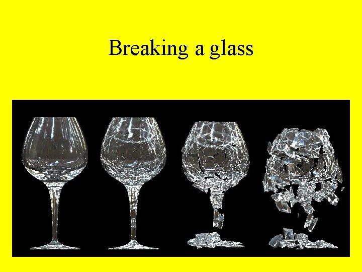 Breaking a glass