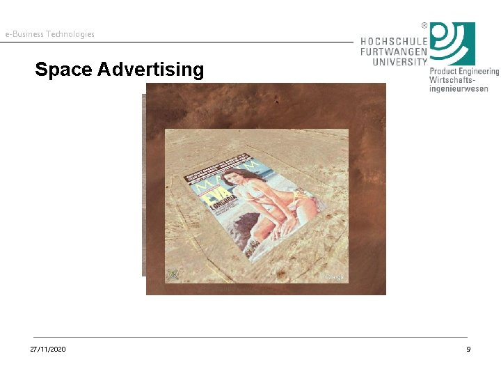 e-Business Technologies Space Advertising 27/11/2020 9