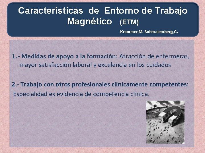 Características de Entorno de Trabajo Magnético (ETM) Krammer, M. Schmalemberg, C . 1. -