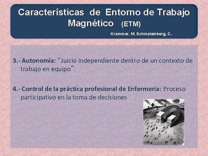 Características de Entorno de Trabajo Magnético (ETM) Krammer, M. Schmalemberg, C . 3. -