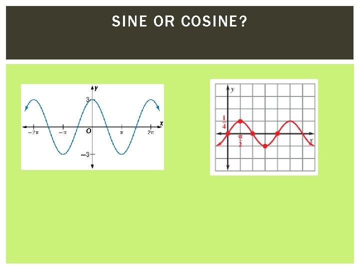 SINE OR COSINE?