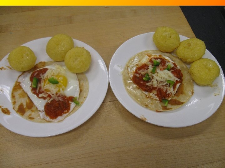 Recipe Name: Huevos Rancheros Region: Southwest Ø Vegetarian dish, egg makes up the protein