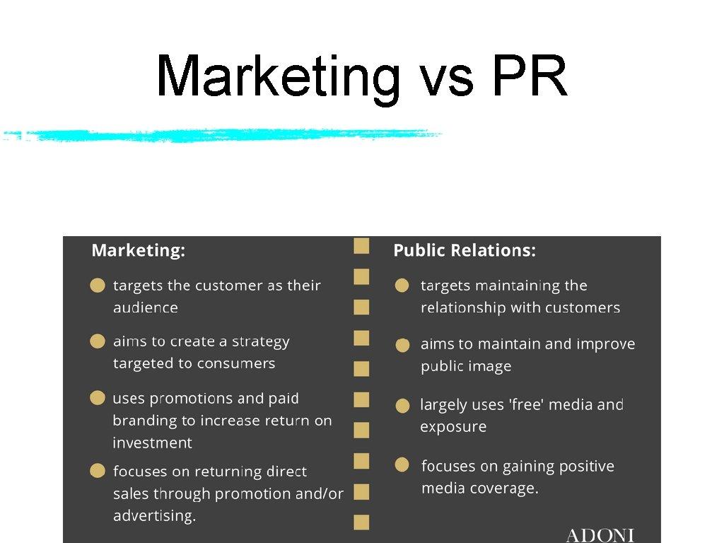 Marketing vs PR
