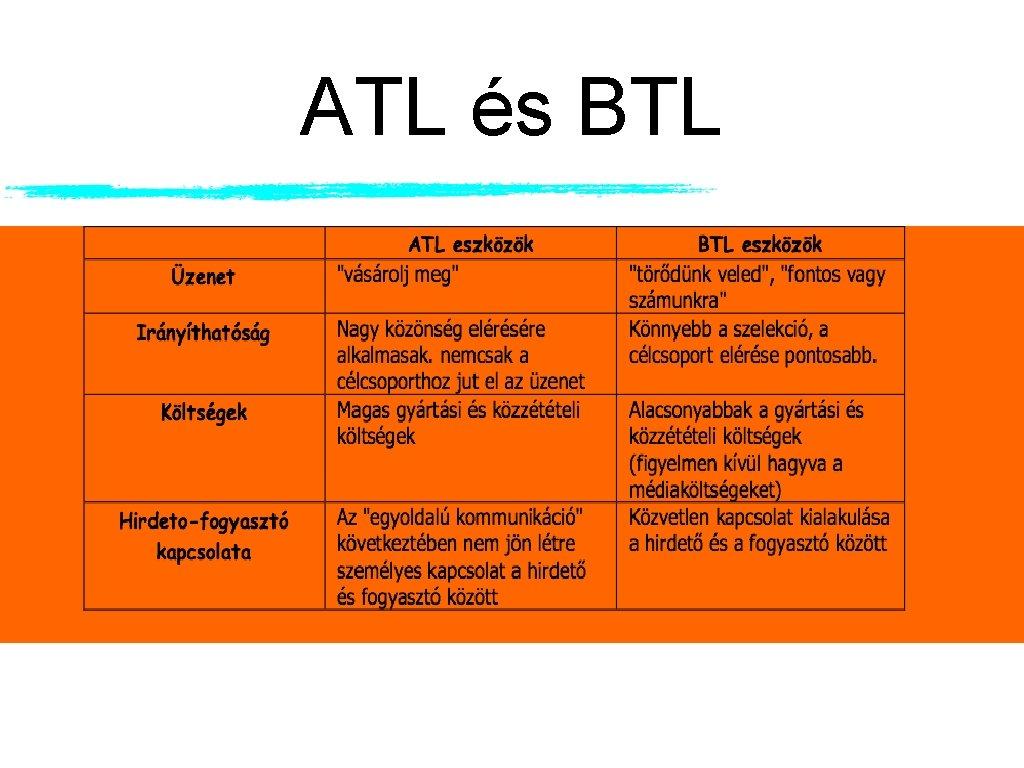 ATL és BTL