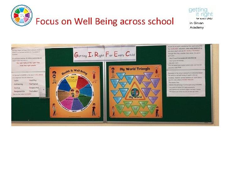 Focus on Well Being across school in Girvan Academy