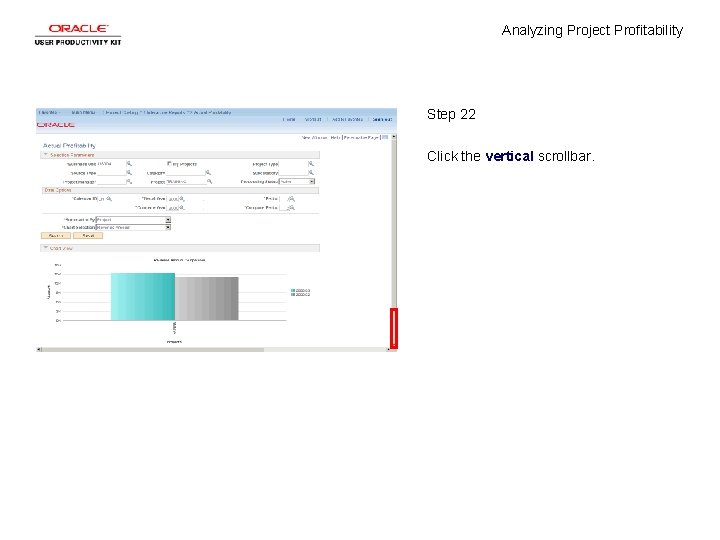 Analyzing Project Profitability Step 22 Click the vertical scrollbar.
