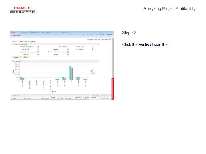 Analyzing Project Profitability Step 42 Click the vertical scrollbar.