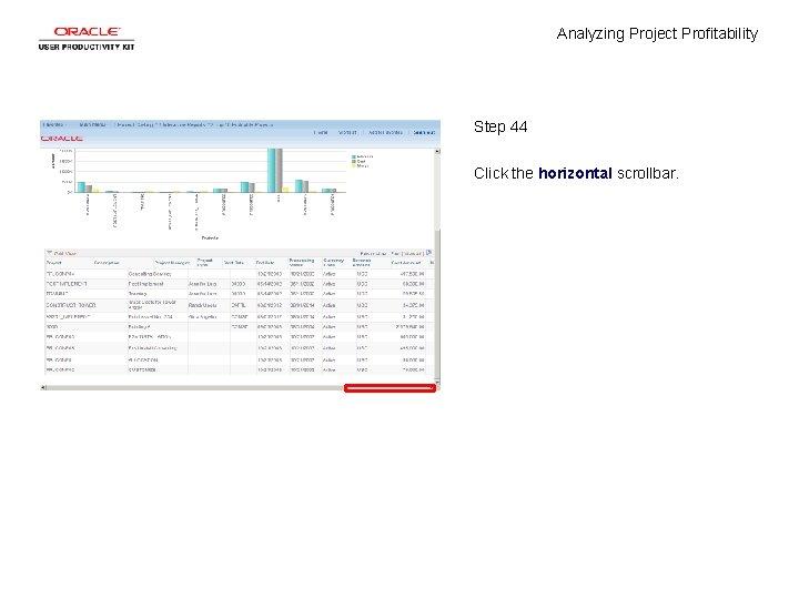 Analyzing Project Profitability Step 44 Click the horizontal scrollbar.