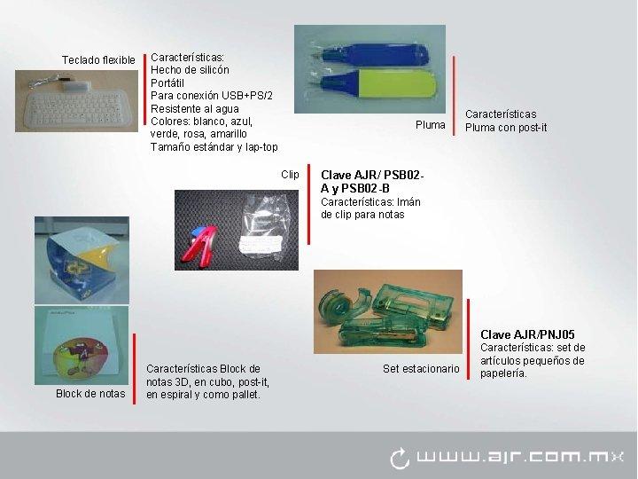 Teclado flexible Características: Hecho de silicón Portátil Para conexión USB+PS/2 Resistente al agua Colores: