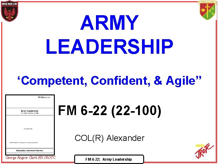 Fm 6-22 army leadership essay should i dumb down my resume to get a job