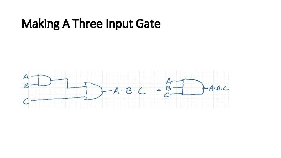 Making A Three Input Gate