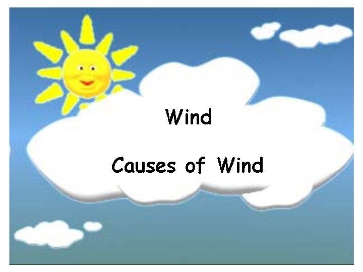 Wind Causes of Wind