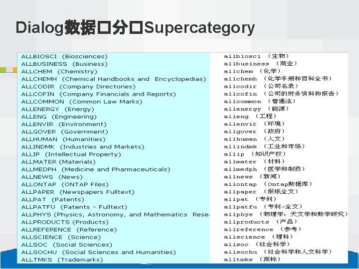 Dialog数据�分�Supercategory 13