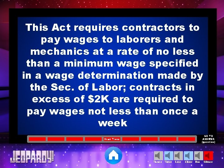 This Act requires contractors to pay wages to laborers and mechanics at a rate