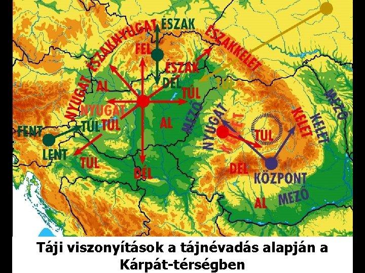 Táji viszonyítások a tájnévadás alapján a Kárpát-térségben