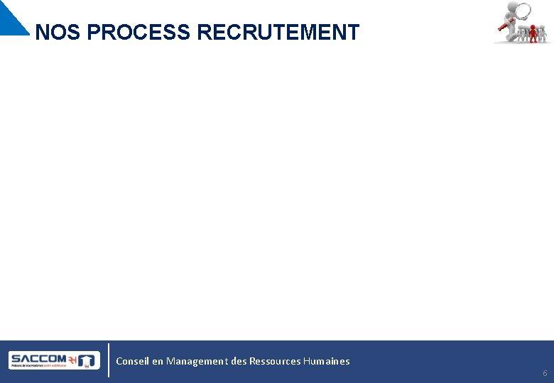 NOS PROCESS RECRUTEMENT Conseil en Management des Ressources Humaines 6
