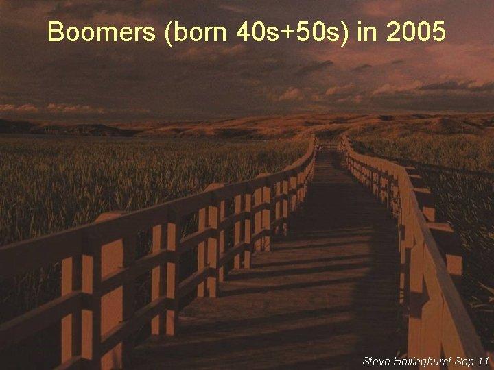 Boomers (born 40 s+50 s) in 2005 Steve Hollinghurst Sep 11