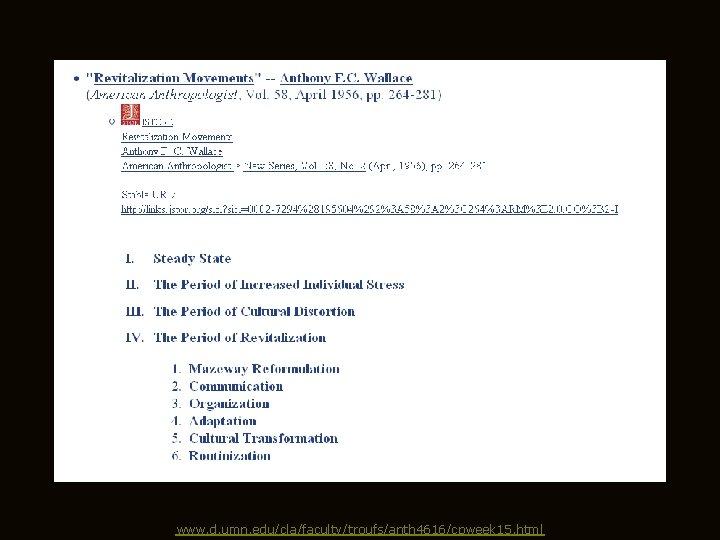 www. d. umn. edu/cla/faculty/troufs/anth 4616/cpweek 15. html