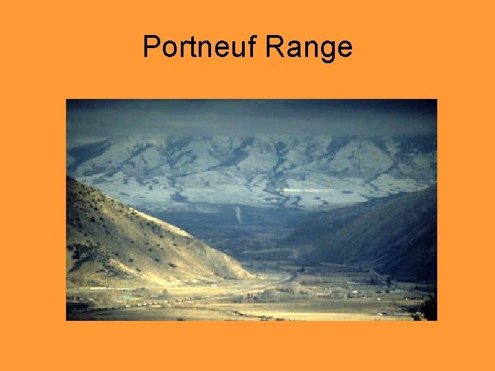 Portneuf Range