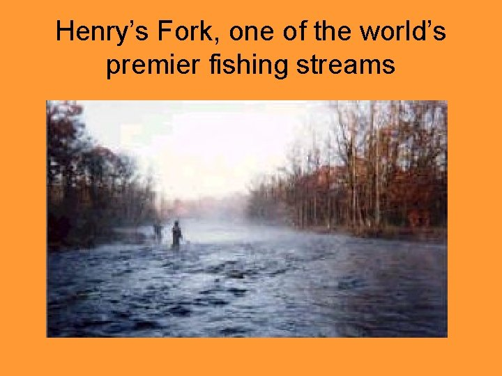 Henry's Fork, one of the world's premier fishing streams