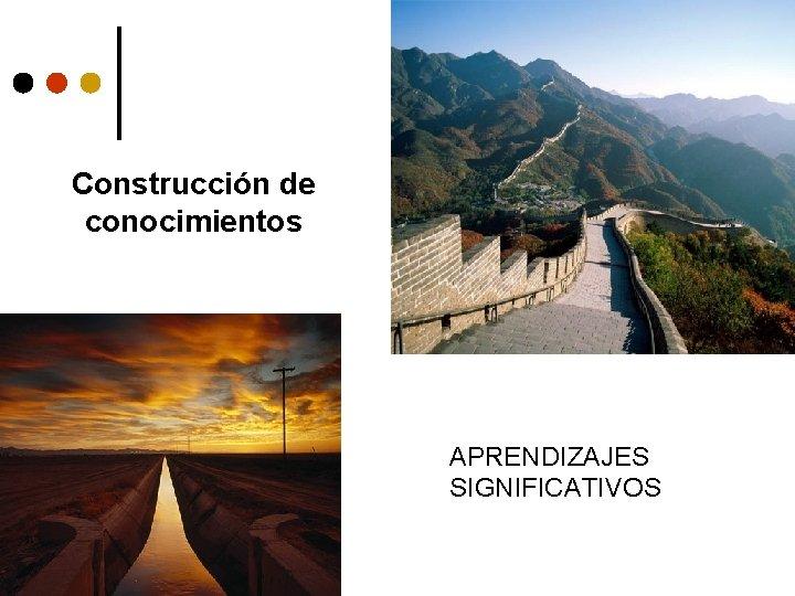 Construcción de conocimientos APRENDIZAJES SIGNIFICATIVOS