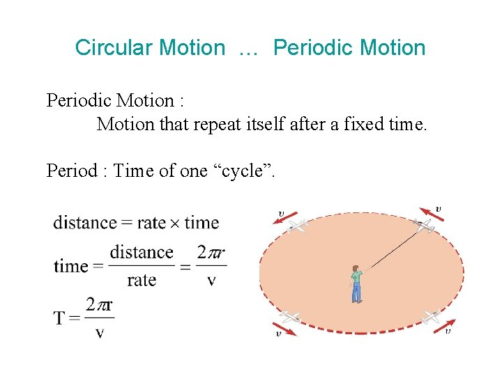 Circular Motion … Periodic Motion : Motion that repeat itself after a fixed time.