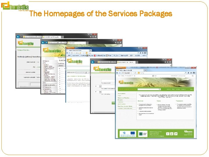 The Homepages of the Services Packages