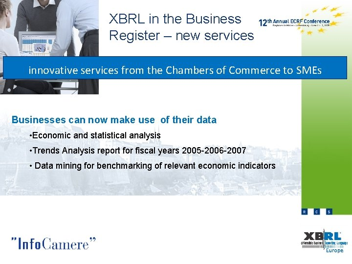 XBRL in the Business Register – new services innovative services from the Chambers of