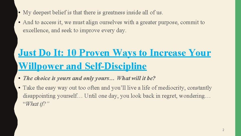 Improve willpower to ways 10 Powerful