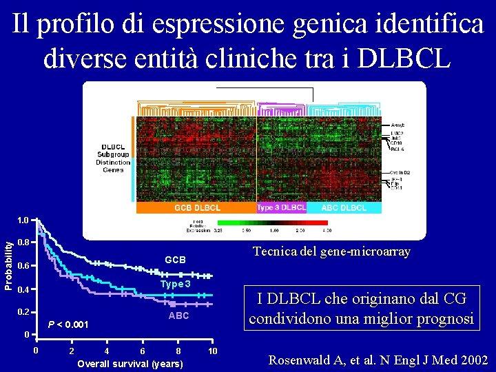 Il profilo di espressione genica identifica diverse entità cliniche tra i DLBCL Probability 1.