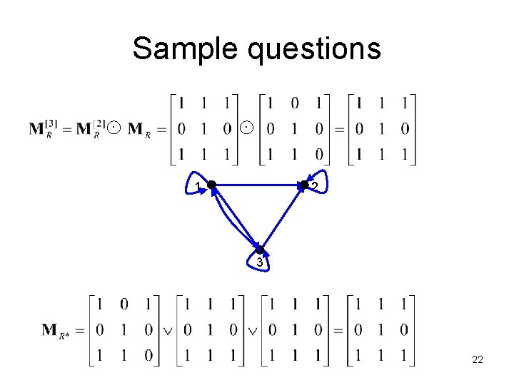 Sample questions 1 2 3 22
