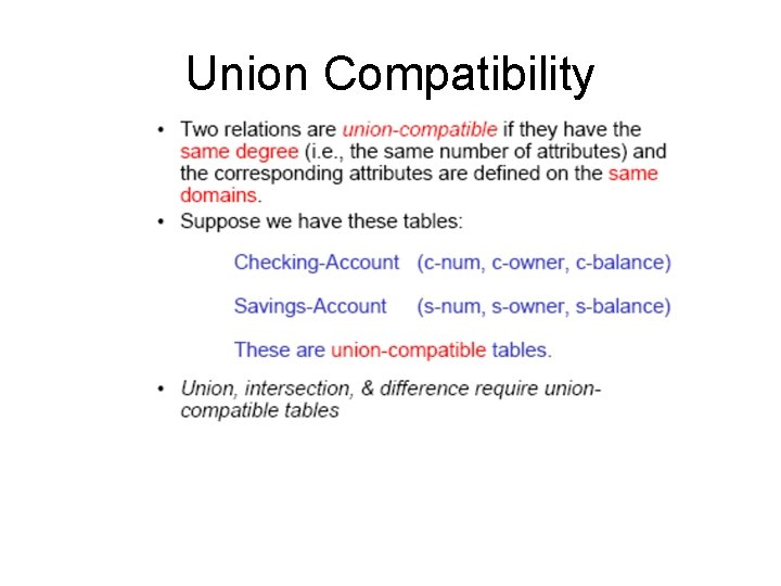 Union Compatibility