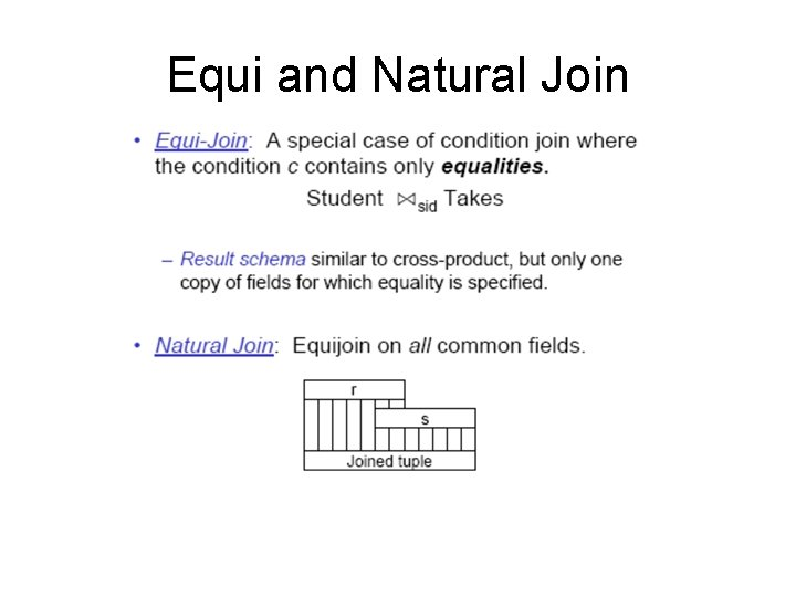 Equi and Natural Join
