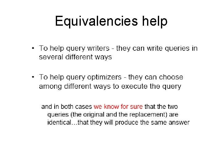 Equivalencies help