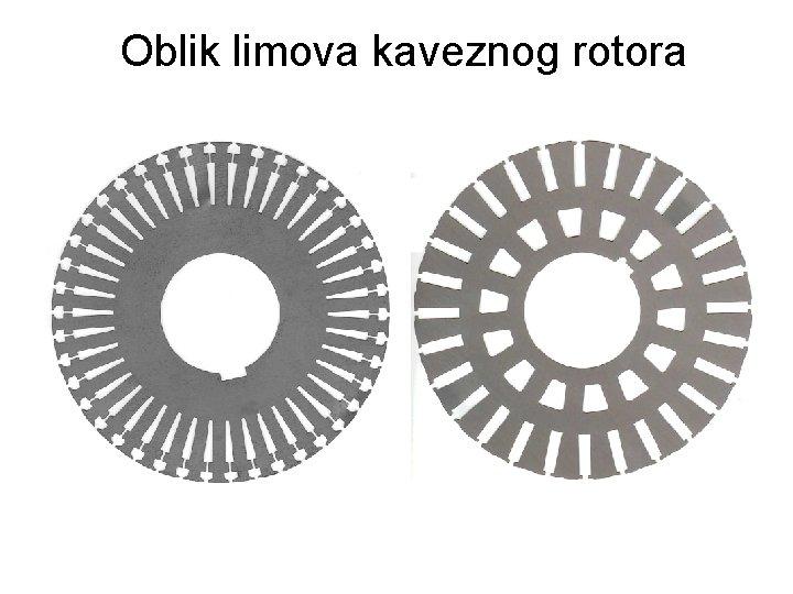 Oblik limova kaveznog rotora