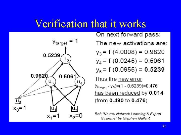 Verification that it works 32