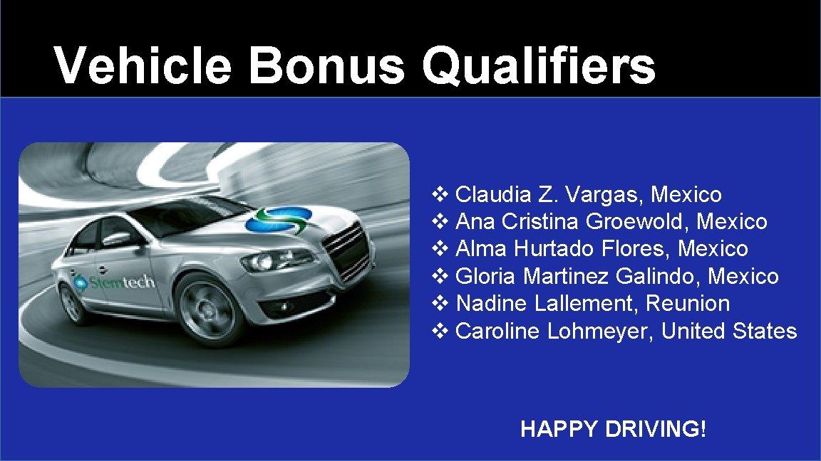 Vehicle Bonus Qualifiers v Claudia Z. Vargas, Mexico v Ana Cristina Groewold, Mexico v