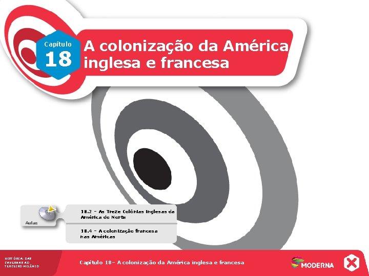 Capítulo 18 A colonização da América inglesa e francesa 18. 2 – As Treze