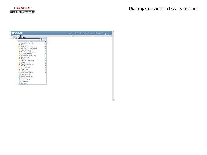 Running Combination Data Validation
