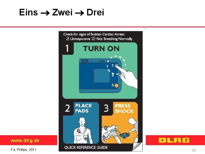 Eins Zwei Drei www. dlrg. de Fa. Philips, 2011 28