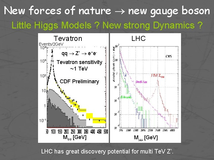 New forces of nature new gauge boson Little Higgs Models ? New strong Dynamics