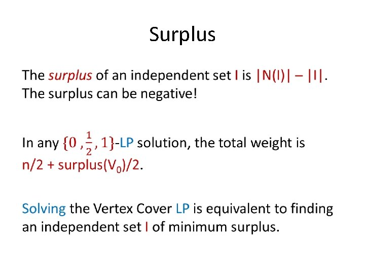 Surplus •