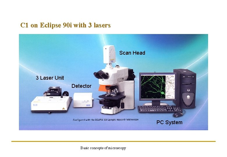 C 1 on Eclipse 90 i with 3 lasers Scan Head 3 Laser Unit