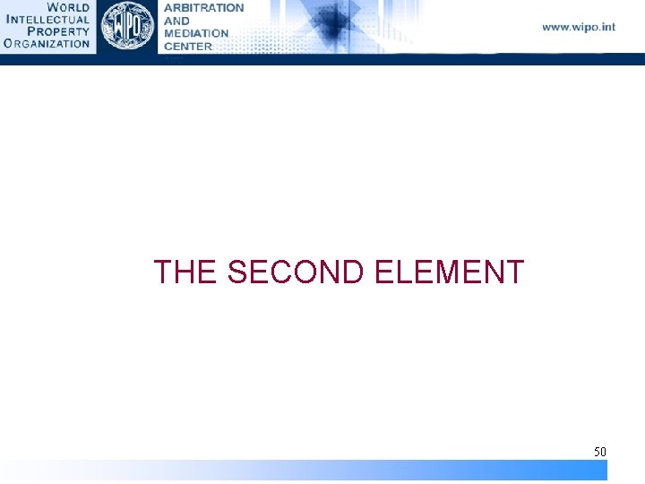 THE SECOND ELEMENT 50