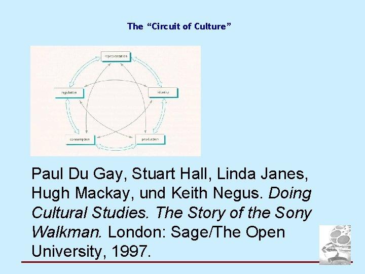 "The ""Circuit of Culture"" Paul Du Gay, Stuart Hall, Linda Janes, Hugh Mackay, und"