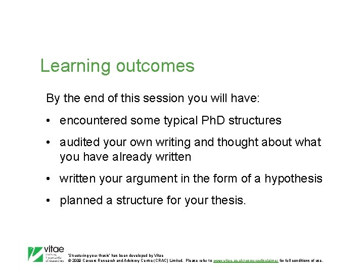 Learning outcomes By the end of this session you will have: • encountered some