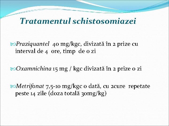 tratamentul cu trematode parazite)